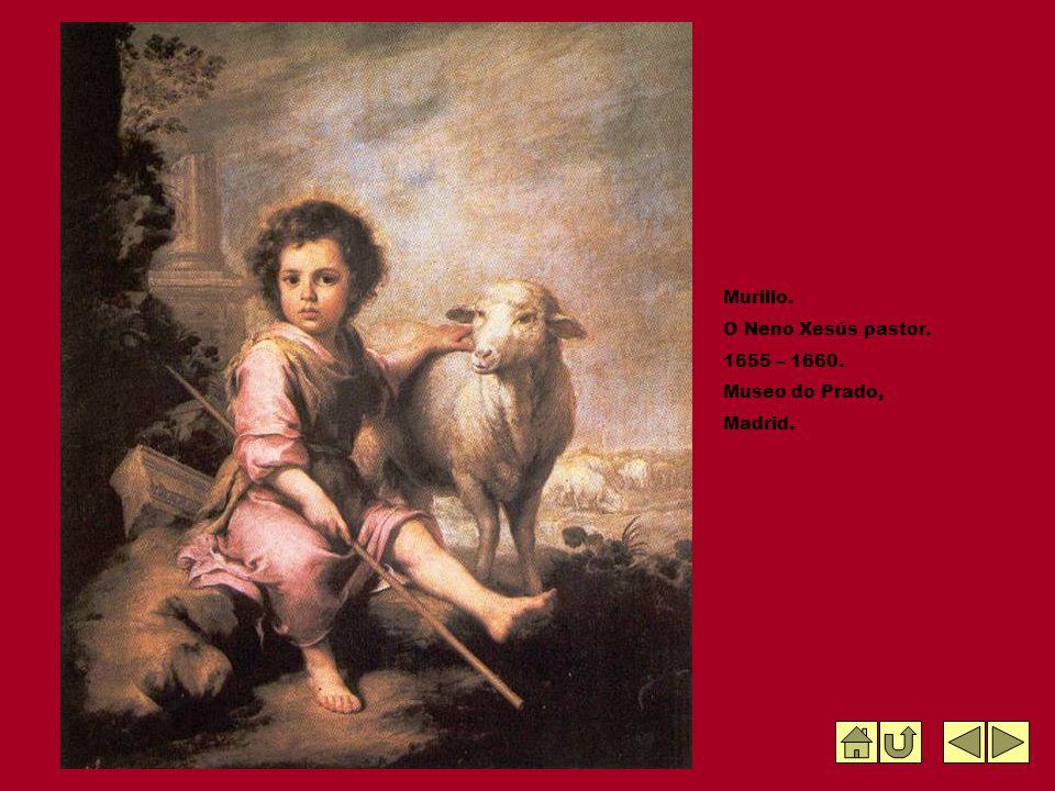 Murillo. O Neno Xesús pastor. 1655 – 1660. Museo do Prado, Madrid.