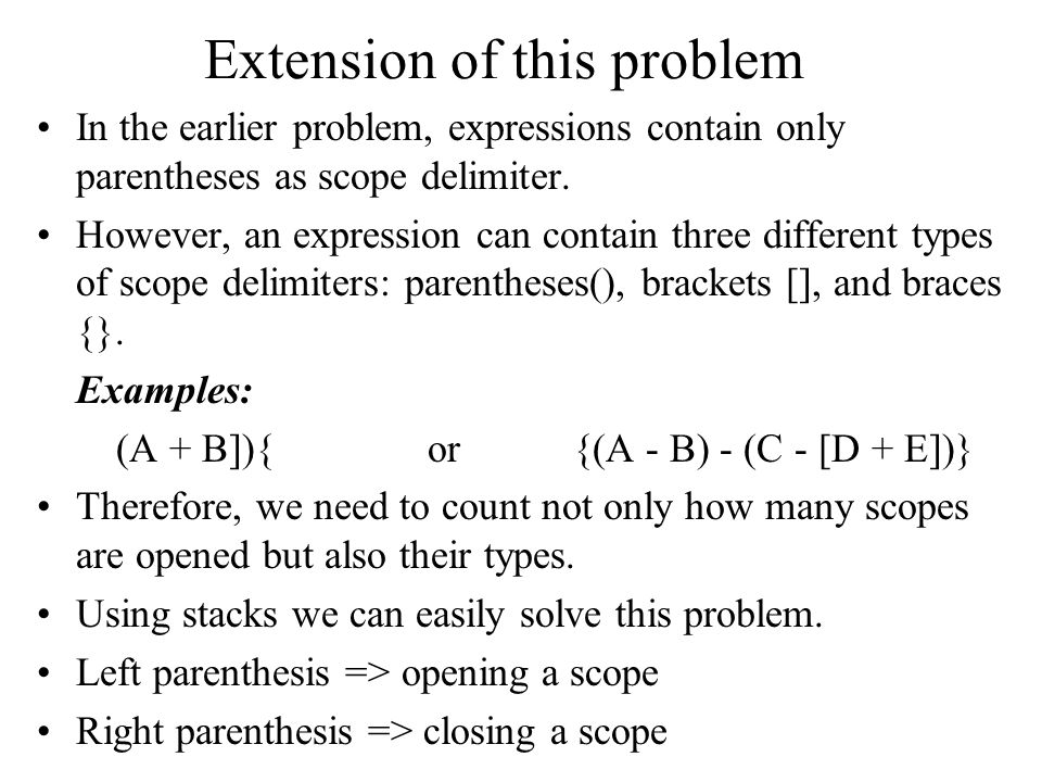 Extension of this problem