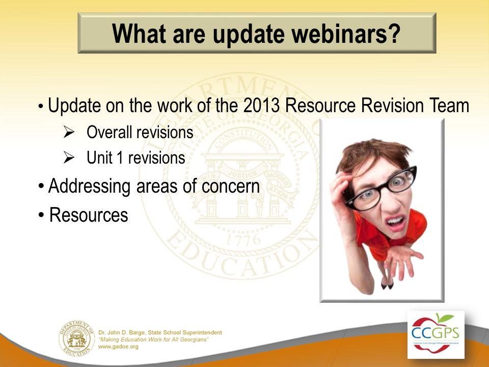 What are update webinars