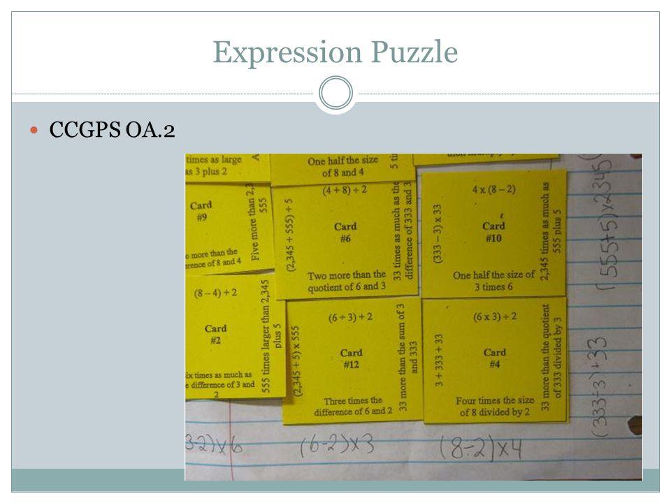 Expression Puzzle CCGPS OA.2