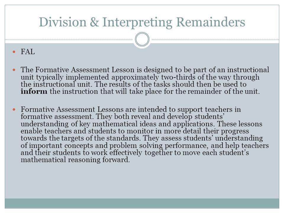 Division & Interpreting Remainders