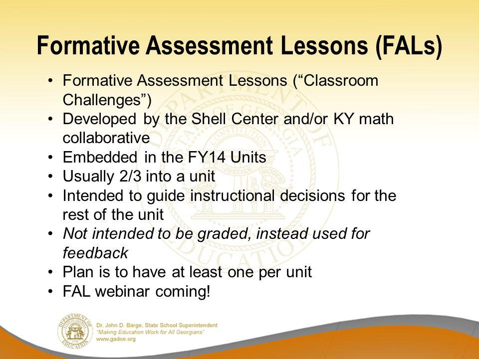 Formative Assessment Lessons (FALs)