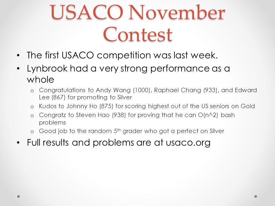 USACO November Contest
