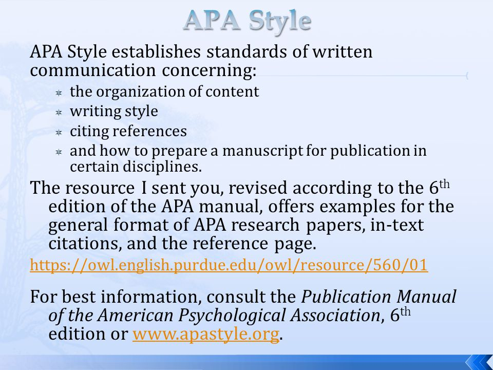 citing a research paper in apa style If you were told to create your citations in apa format, your paper should be   double space the entire research paper include a page header known as the.
