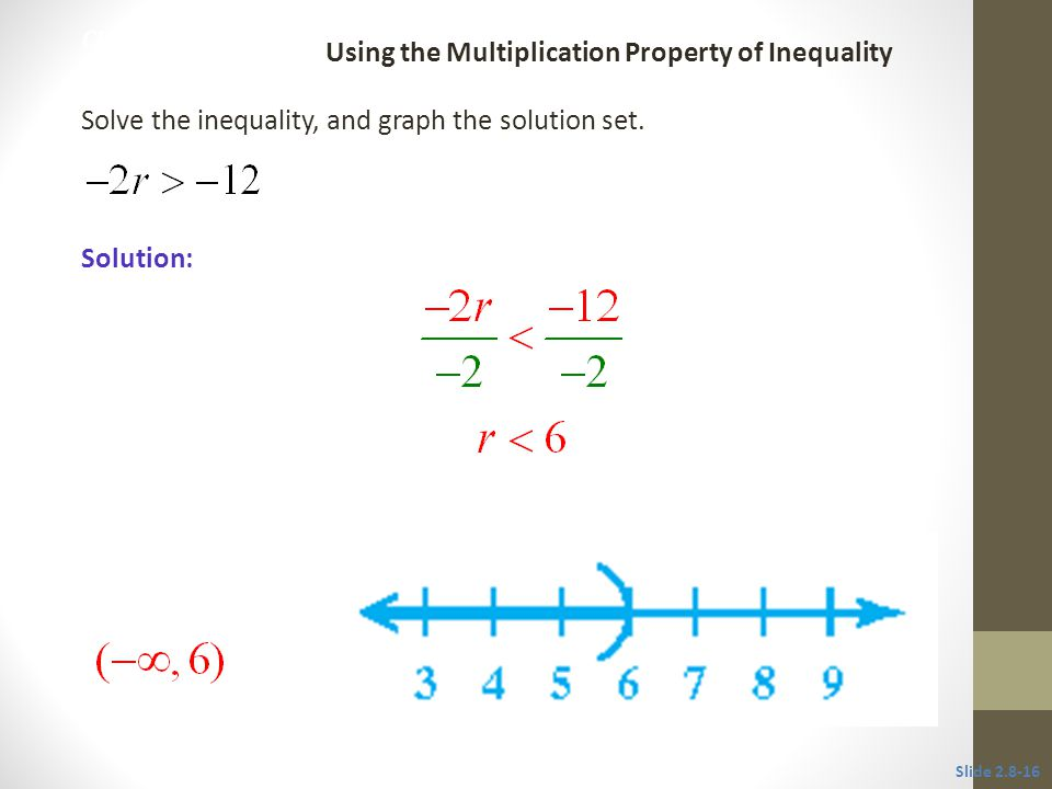 Using the Multiplication Property of Inequality