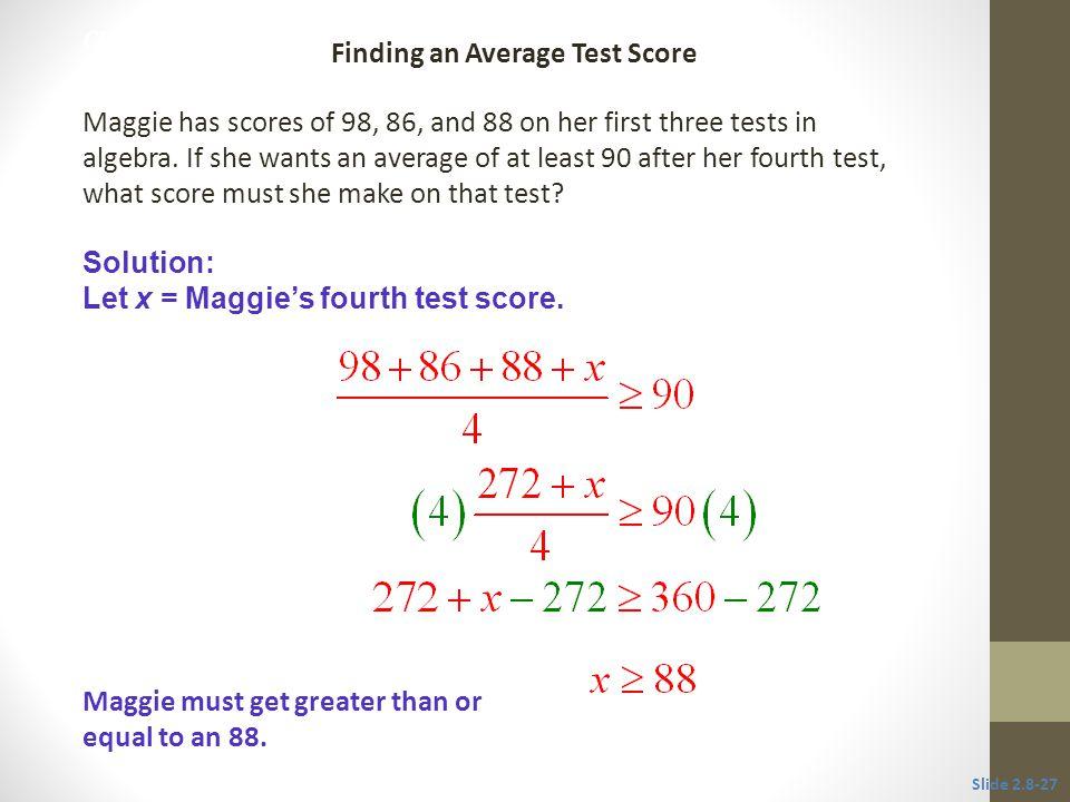 Finding an Average Test Score