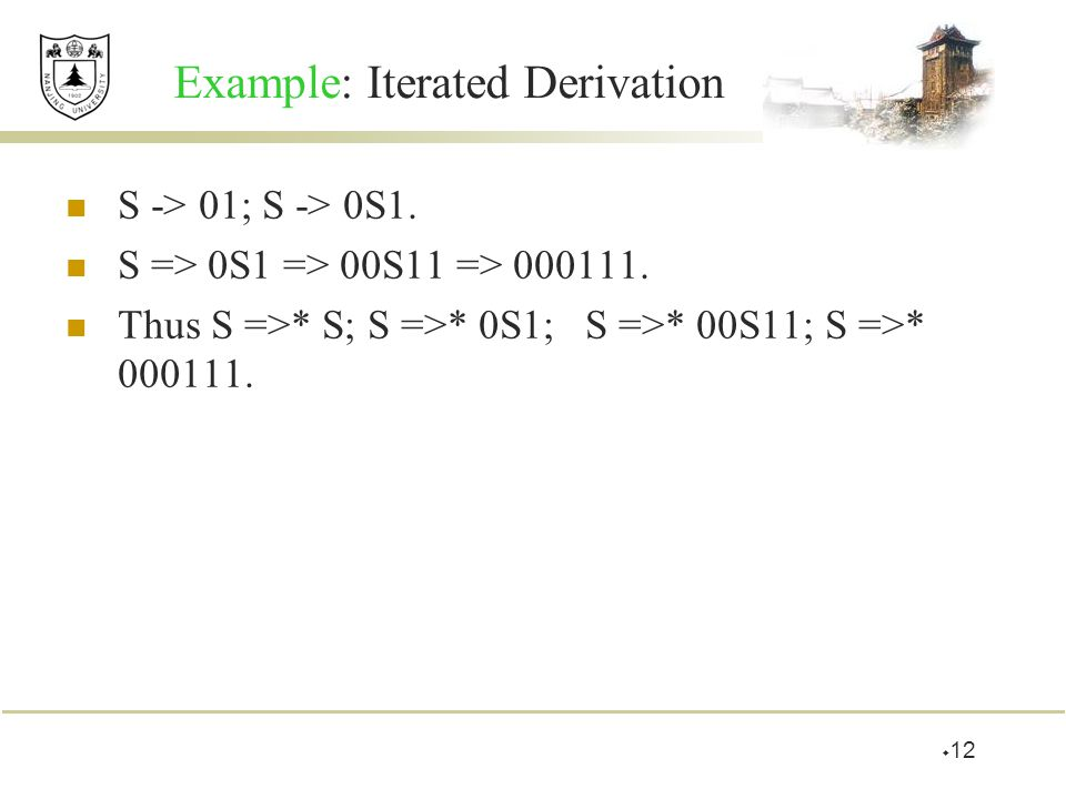 Example: Iterated Derivation