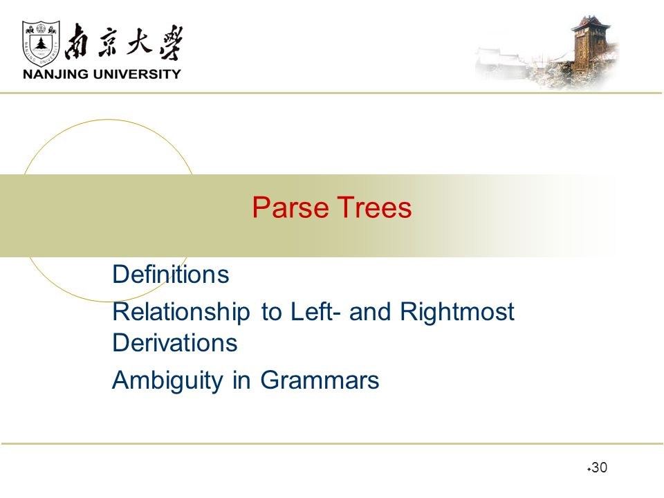 Parse Trees Definitions
