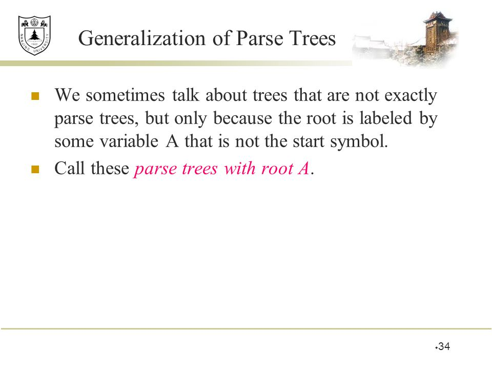 Generalization of Parse Trees