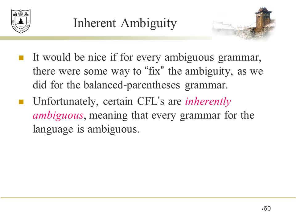 Inherent Ambiguity