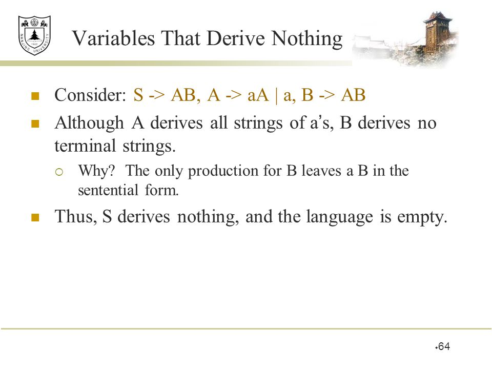 Variables That Derive Nothing