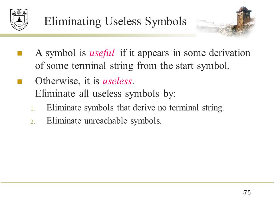 Eliminating Useless Symbols