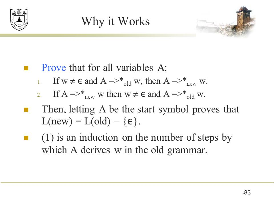 Why it Works Prove that for all variables A: