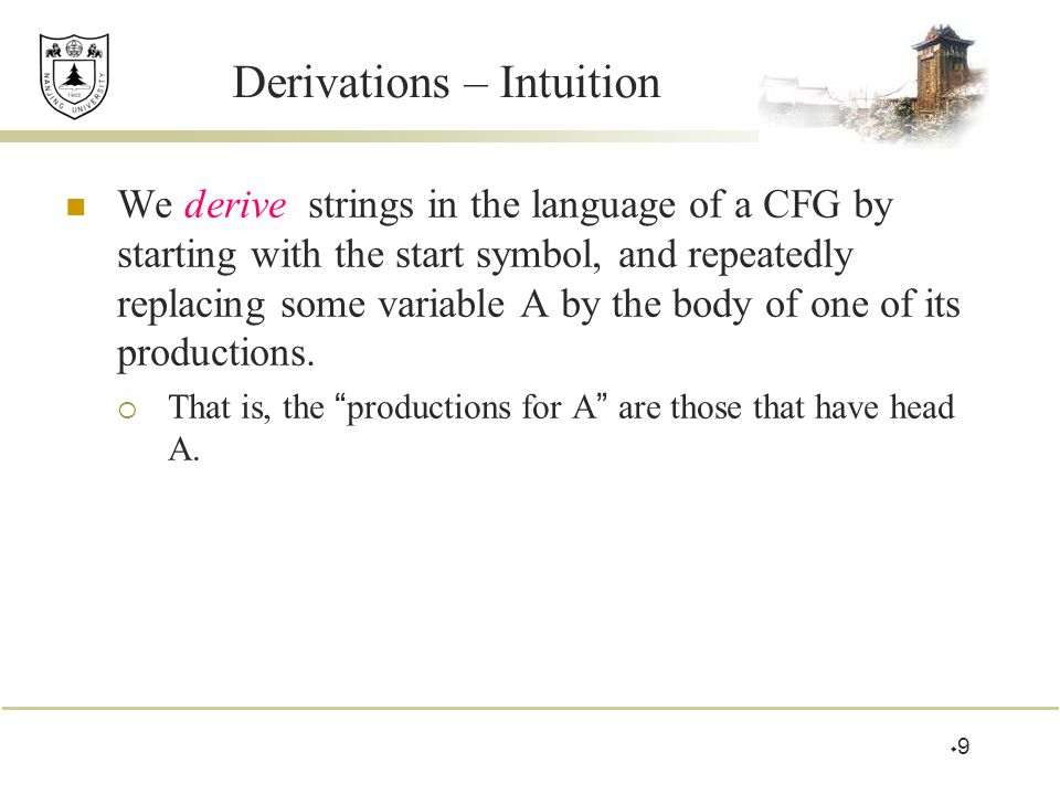 Derivations – Intuition