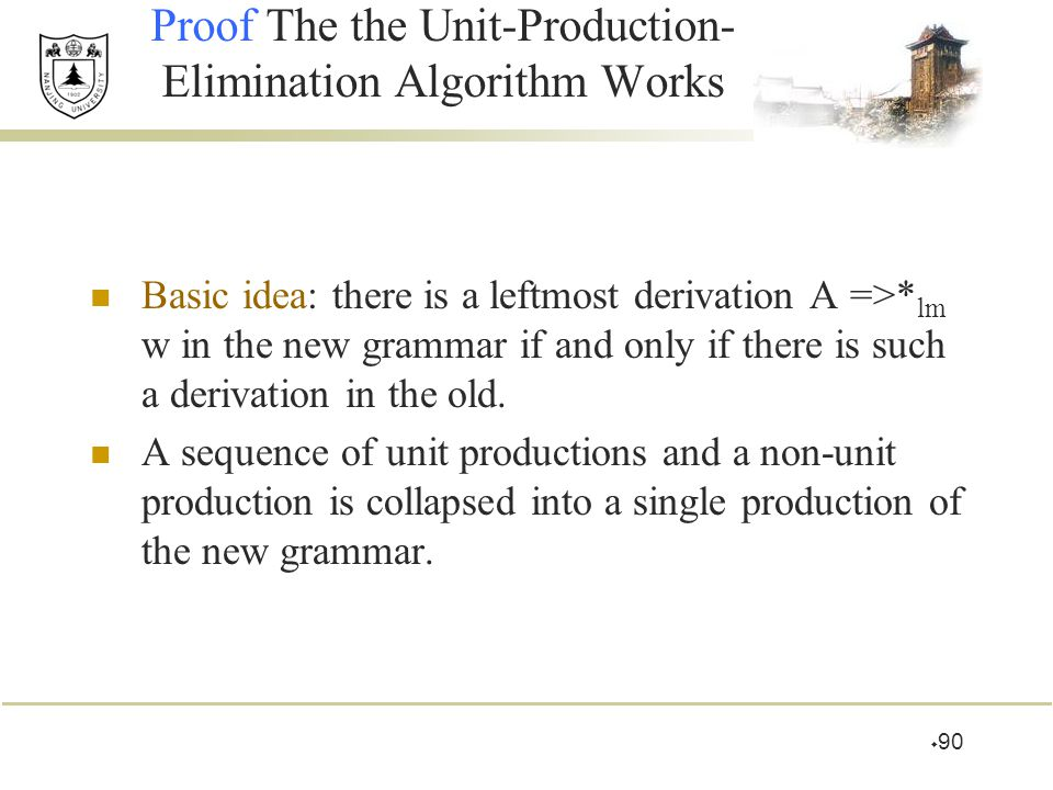 Proof The the Unit-Production-Elimination Algorithm Works