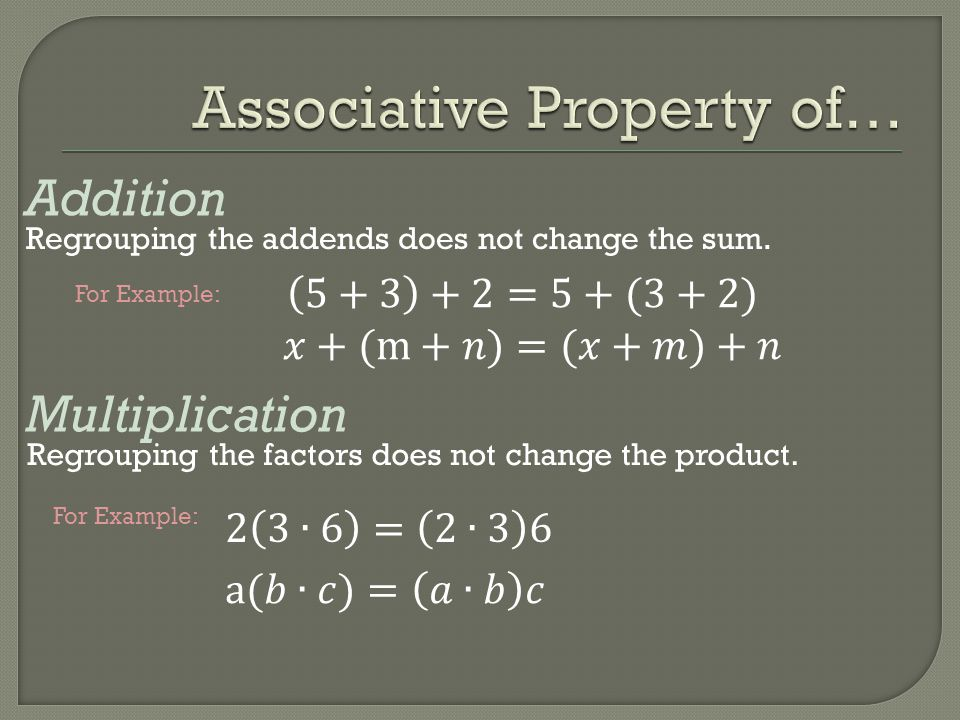 Associative Property of…