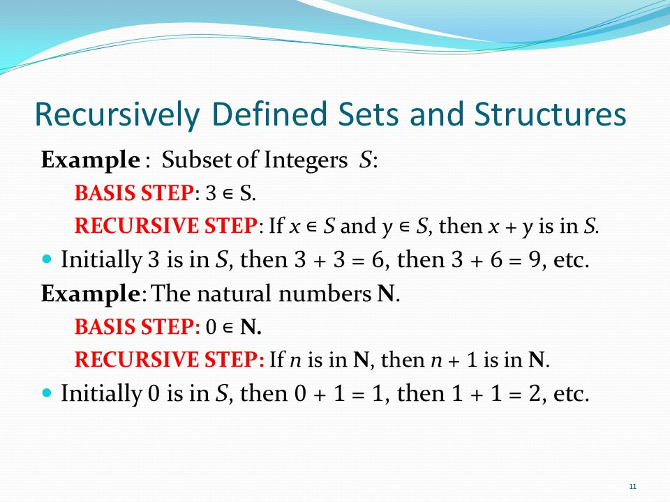 Recursively Defined Sets and Structures