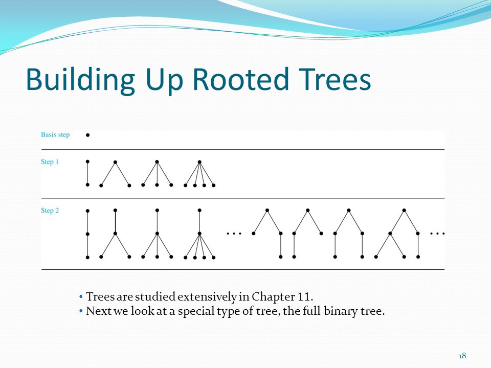 Building Up Rooted Trees