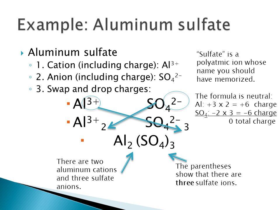 Example: Aluminum sulfate