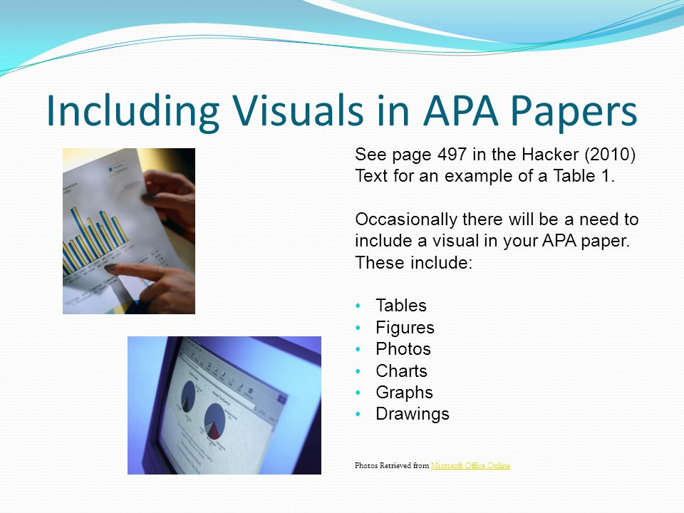 Including Visuals in APA Papers