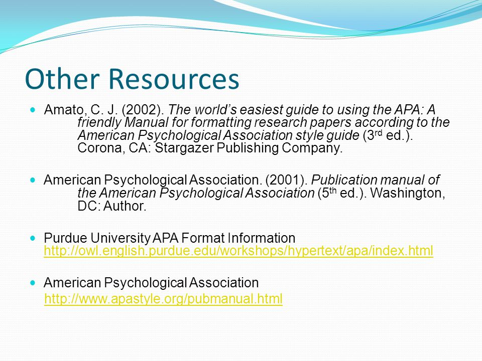format of a psychology research paper