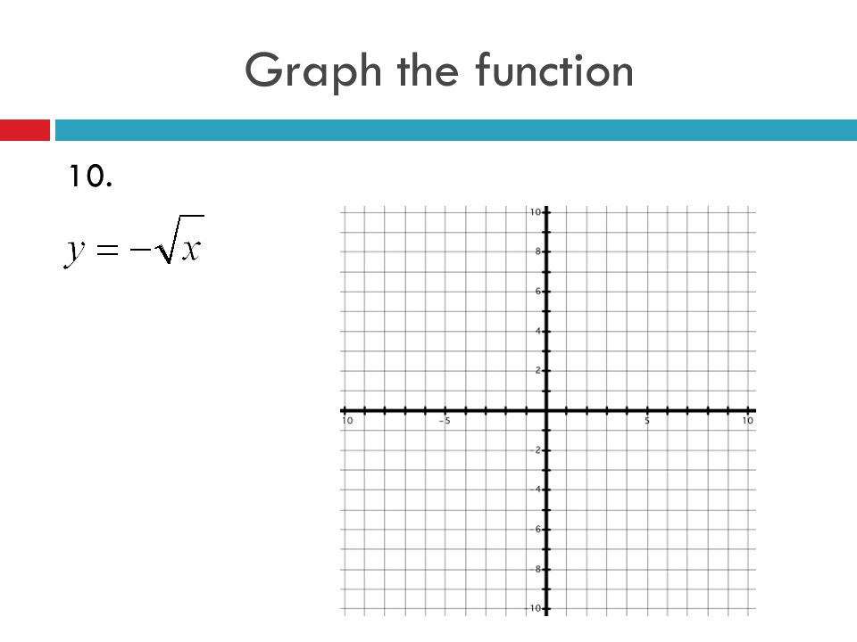 Graph the function 10.