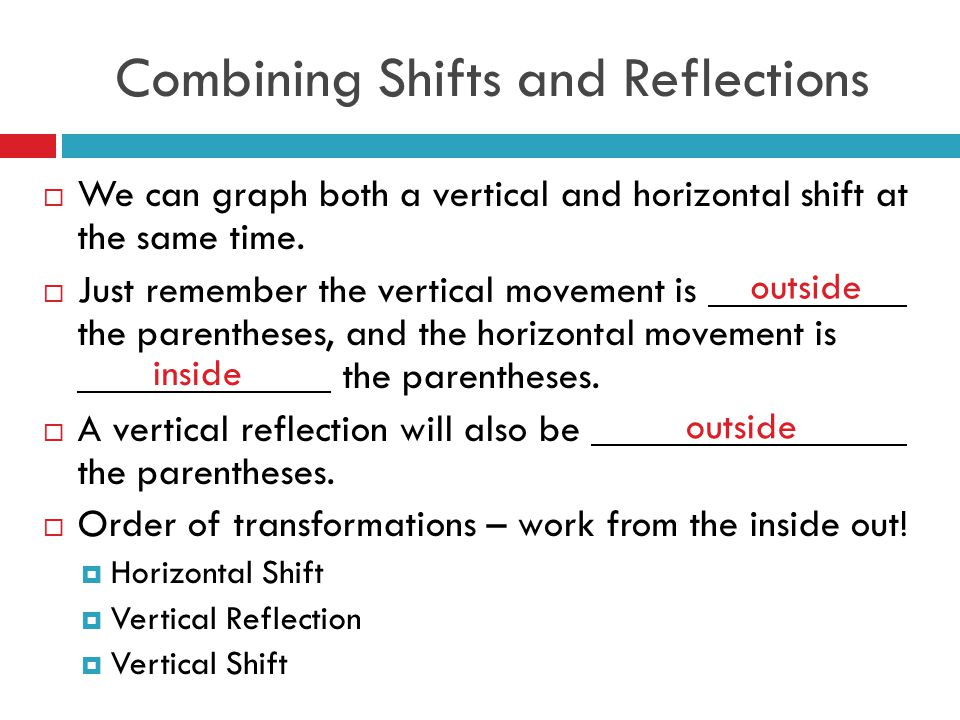 Combining Shifts and Reflections