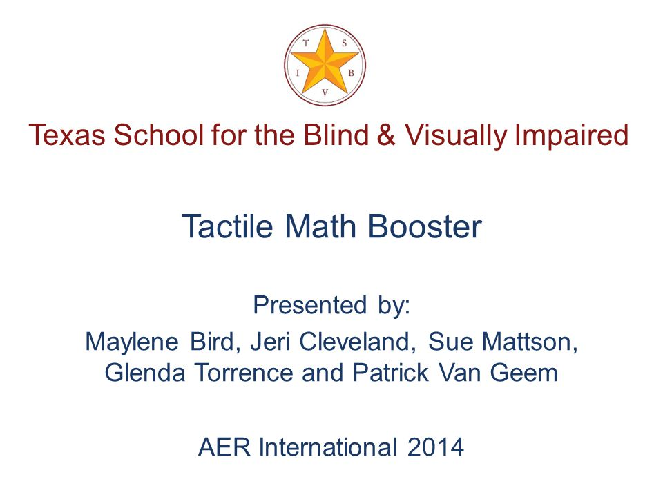Tactile Books for Very Young Children Who Are Blind or