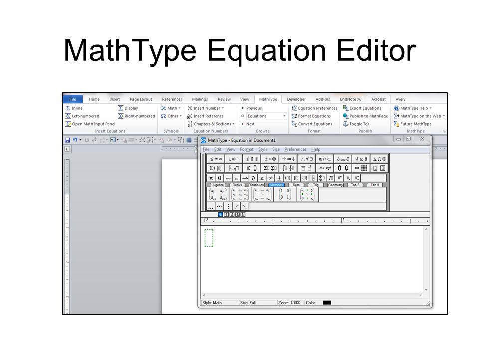 MathType Equation Editor