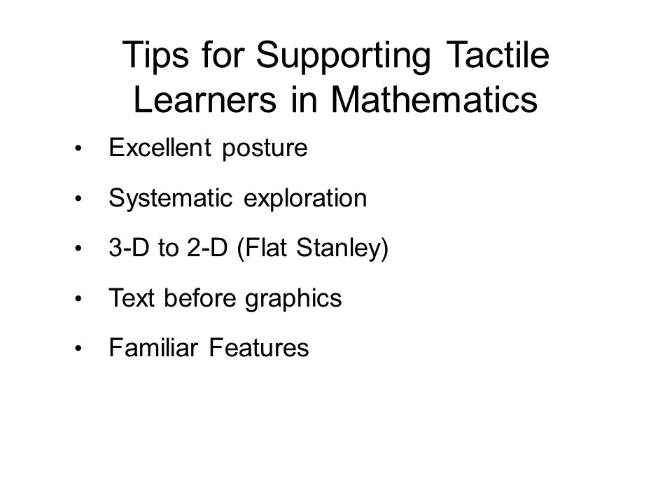 Tips for Supporting Tactile Learners in Mathematics