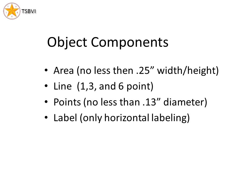 Object Components Area (no less then .25 width/height)