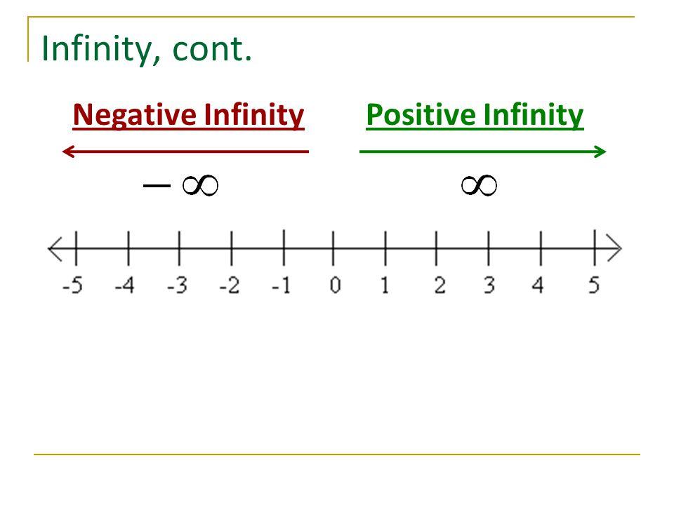 Infinity, cont. Negative Infinity Positive Infinity
