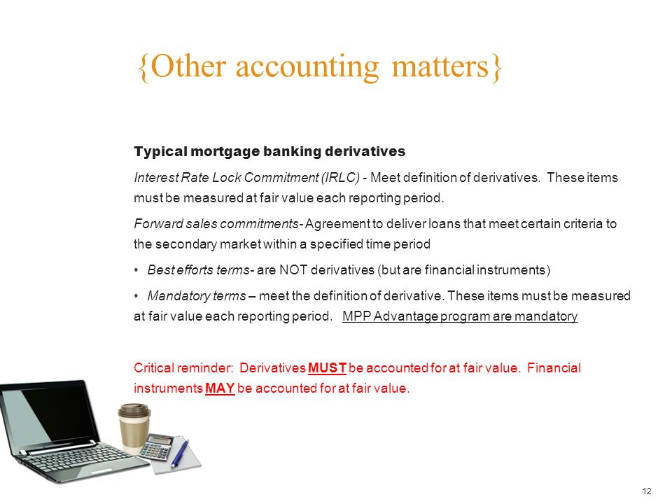 {Other accounting matters}