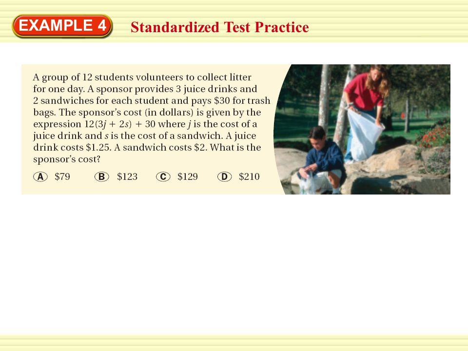 EXAMPLE 4 Standardized Test Practice