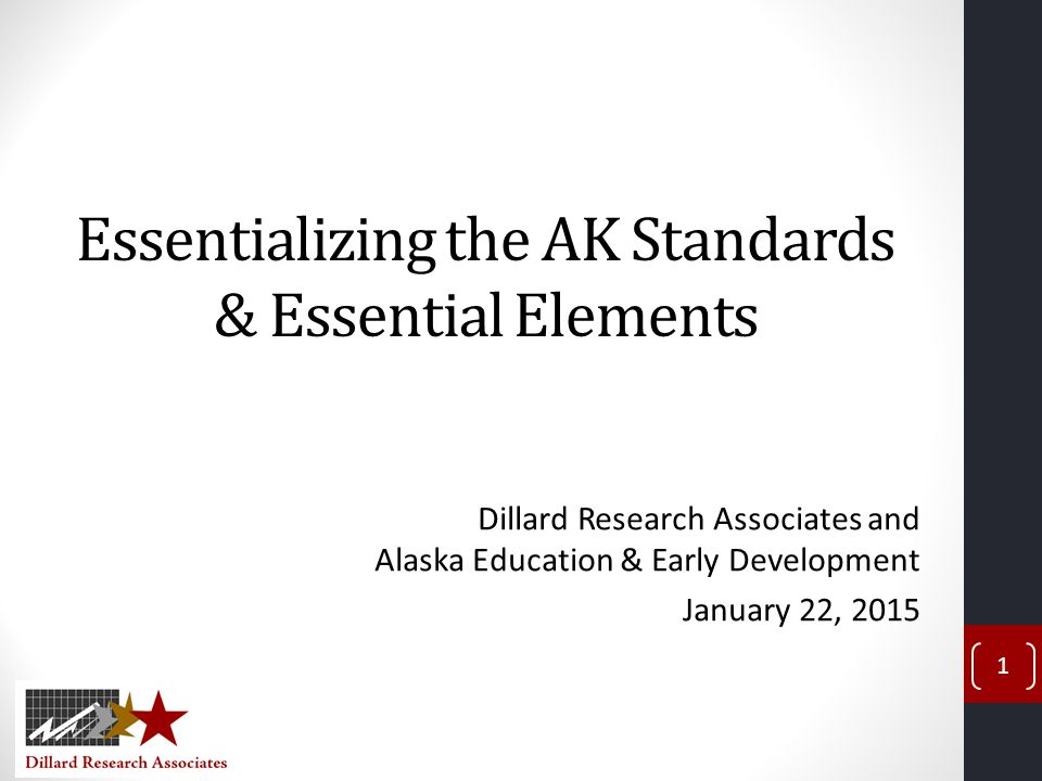 Essentializing the AK Standards & Essential Elements