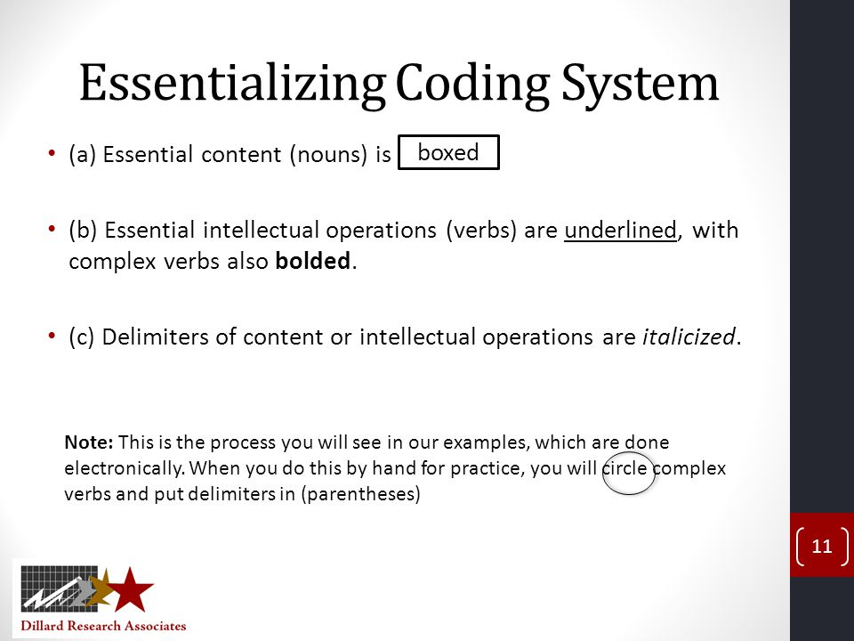 Essentializing Coding System