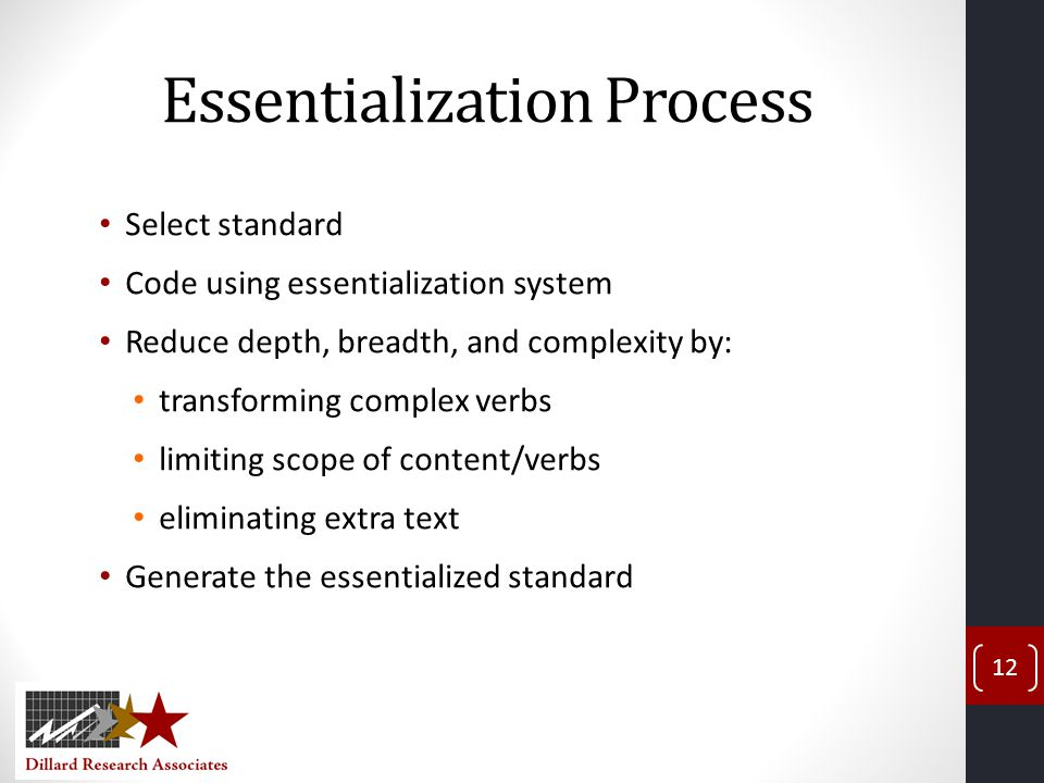 Essentialization Process