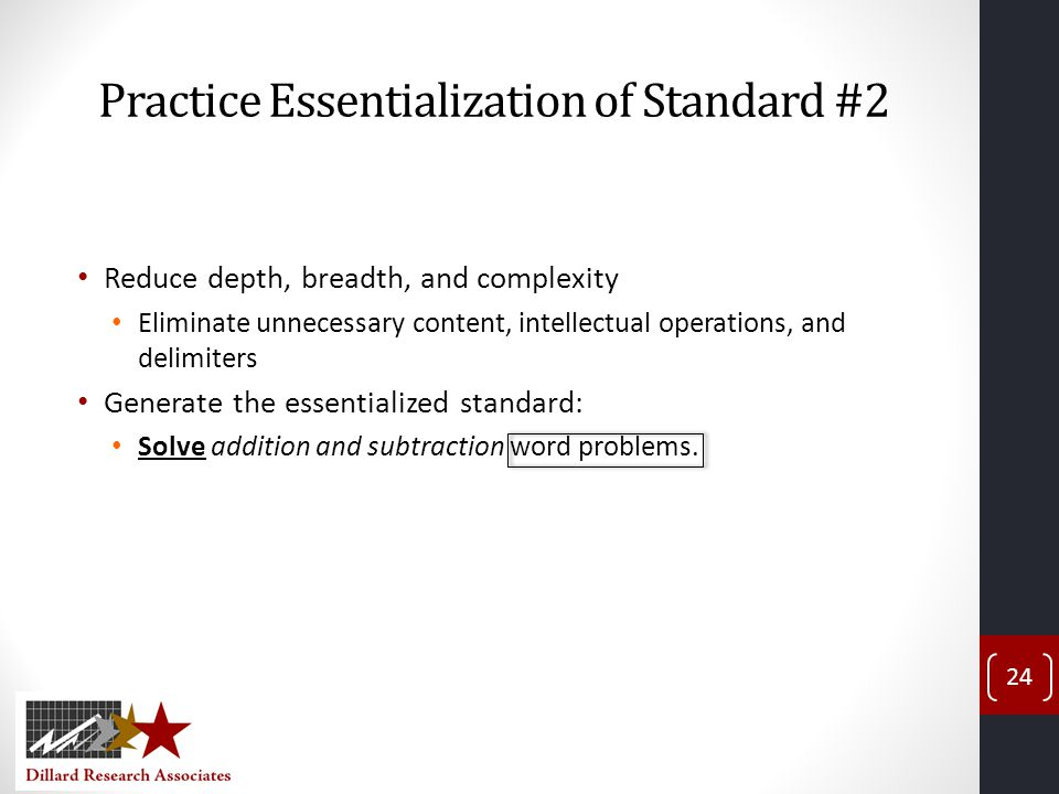 Practice Essentialization of Standard #2