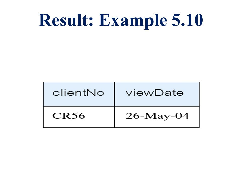 Result: Example 5.10
