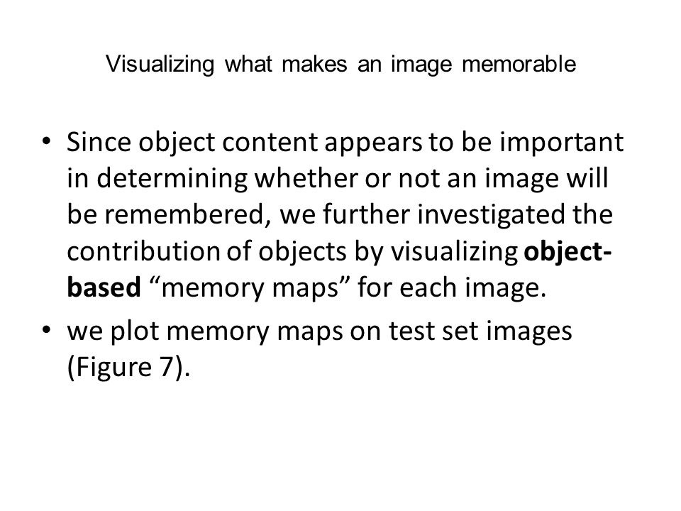 Visualizing what makes an image memorable