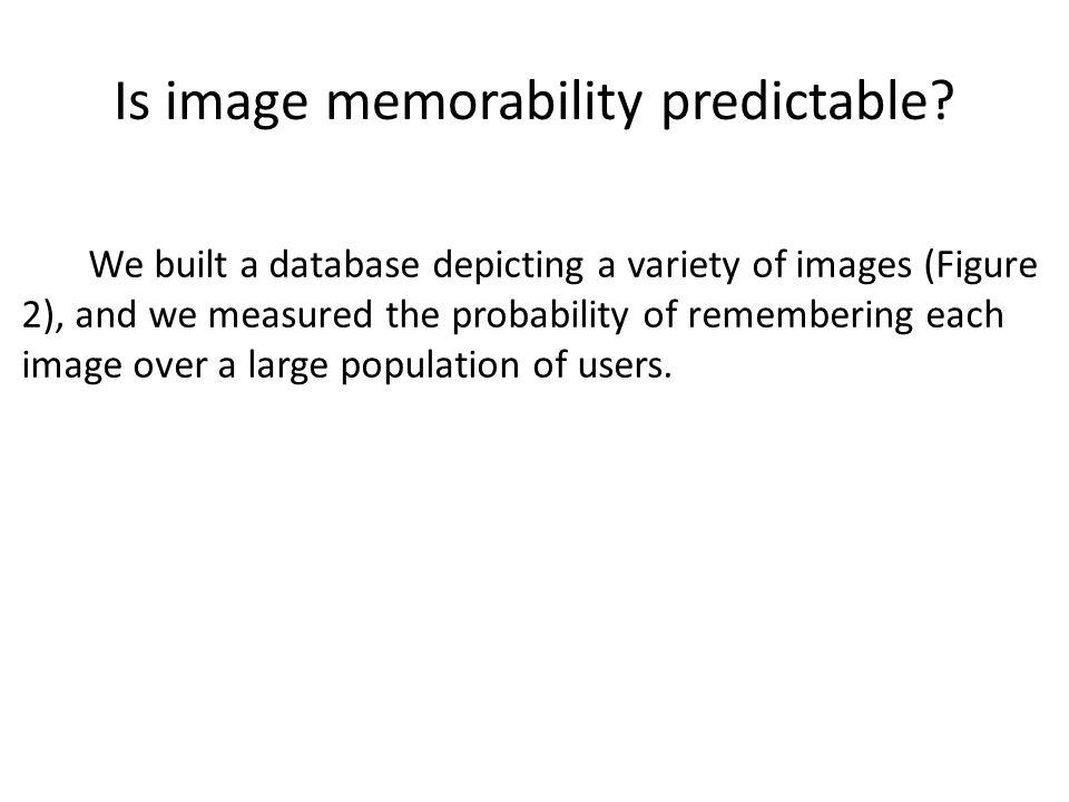 Is image memorability predictable
