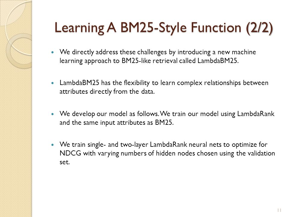 Learning A BM25-Style Function (2/2)