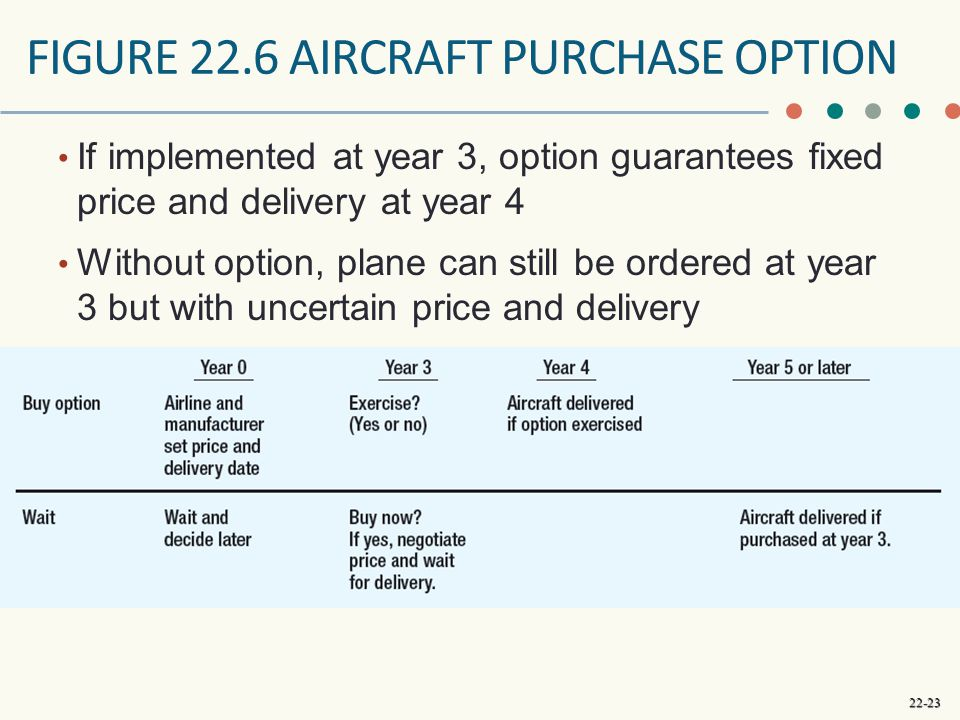 Figure 22.6 aircraft purchase option