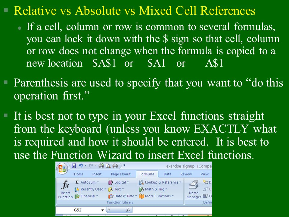 Relative vs Absolute vs Mixed Cell References