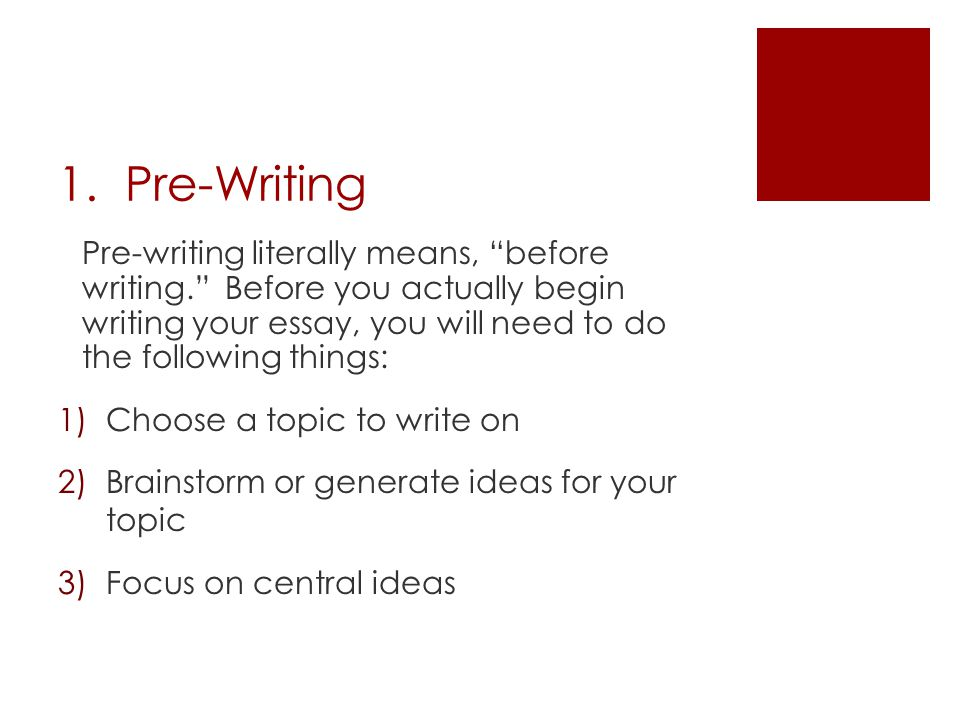 essay writing process prewriting Essay on writing process because editing essay writing process diagram prewriting is the stage of the writing process when the writer generates ideas for.