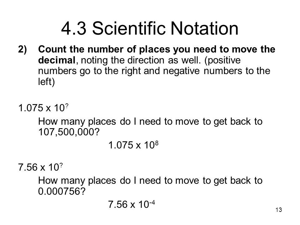 4.3 Scientific Notation