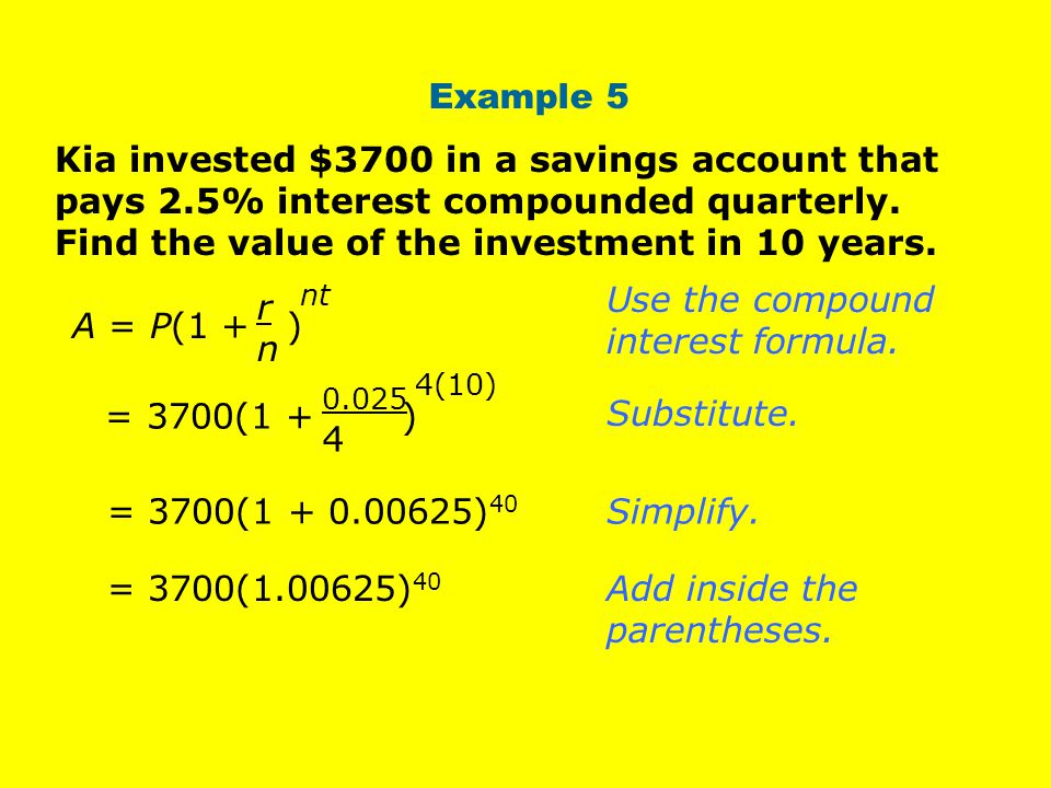 Use the compound interest formula.