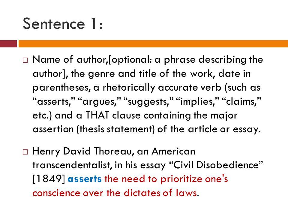 essay on civil disobedience summary