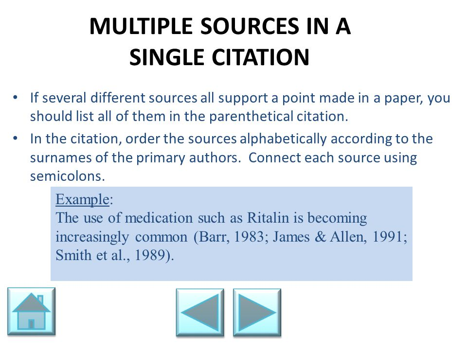 MULTIPLE SOURCES IN A SINGLE CITATION