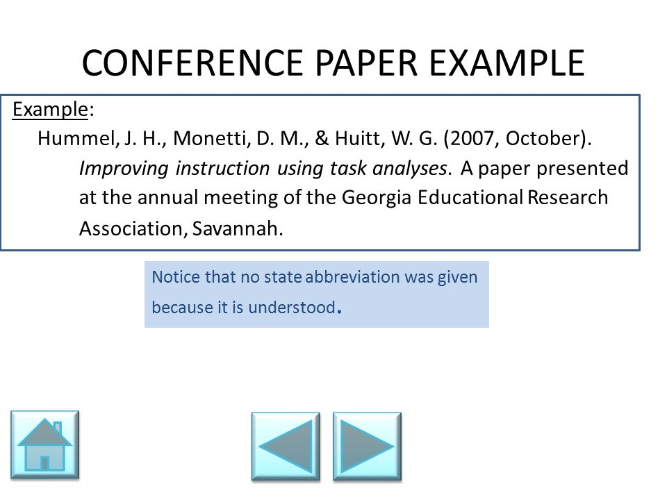 CONFERENCE PAPER EXAMPLE